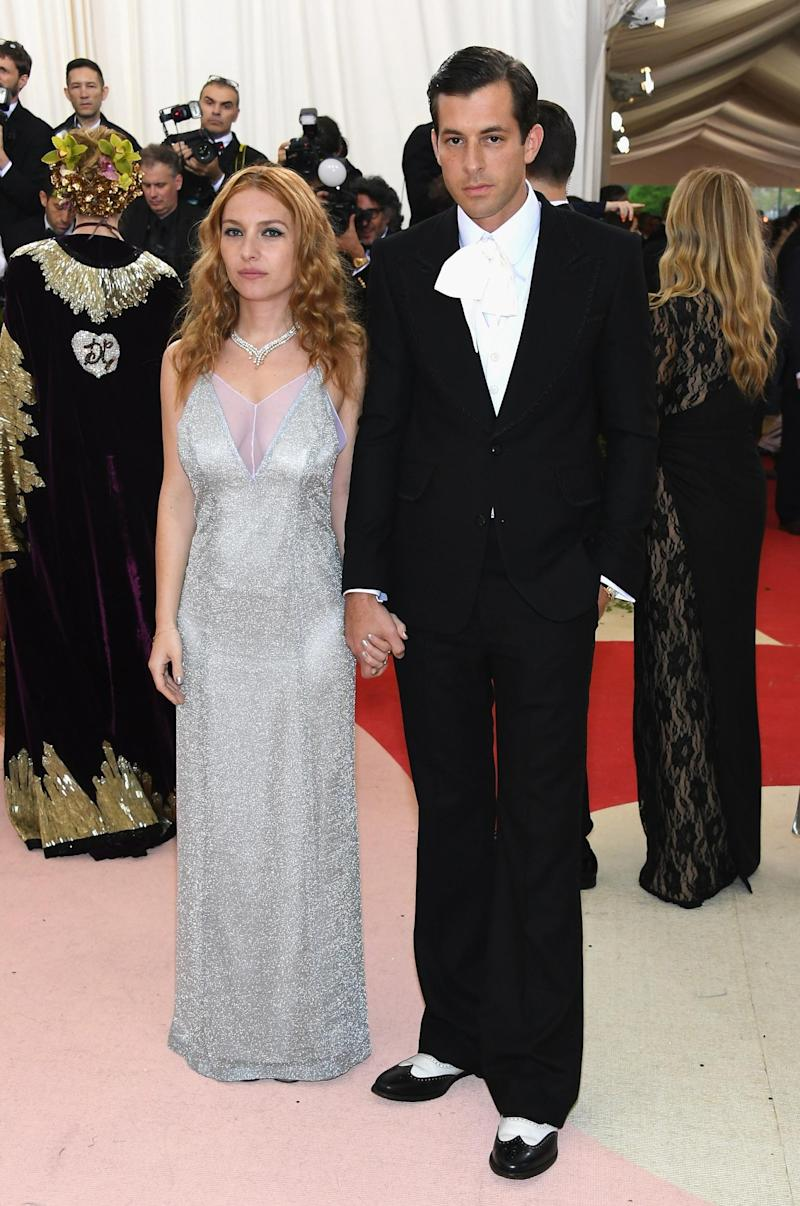 Josephine de La Baume and Mark Ronson at the Met Gala