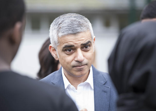 Sadiq Khan. Photo DavidJensen/EMPICS Entertainment