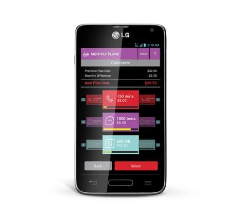 Virgin Mobile Custom app