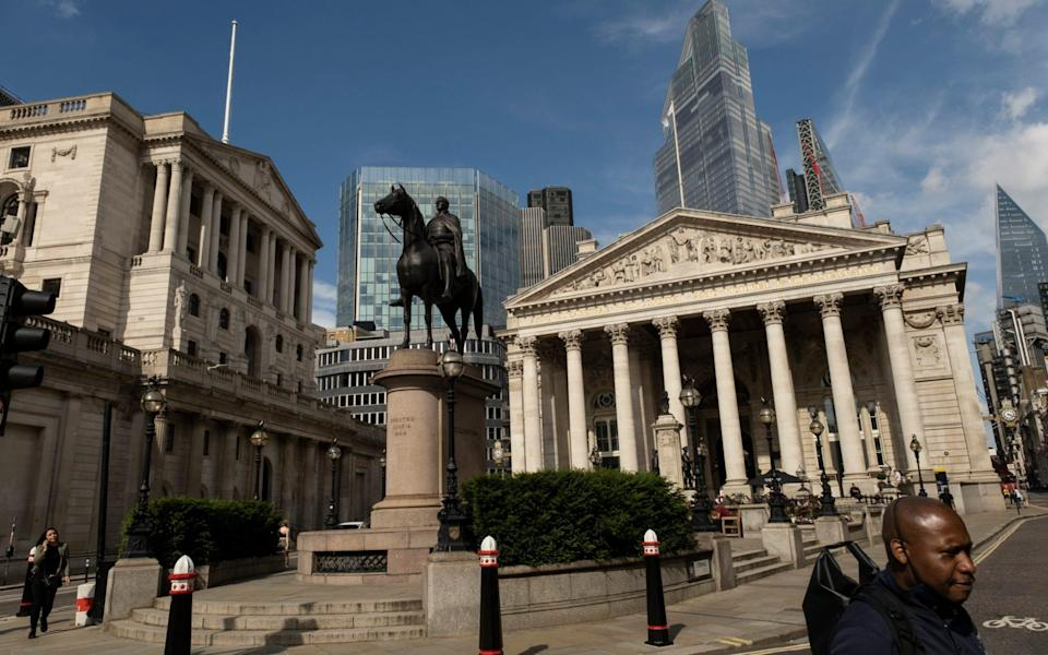 The Bank of England in the City of London - Mike Kemp/Telegraph