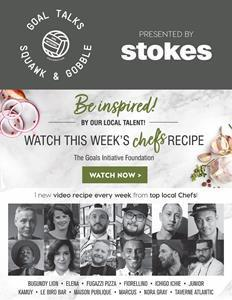 STOKES SHARES: PROUD TO PROMOTE THE SQUAWK & GOBBLE WEB SERIES BY GOAL INITIATIVES TO SUPPORT LOCAL RESTAURANTS AND RAISE AWARENESS TO MENTAL HEALTH THROUGH COOKING AND SHARING.