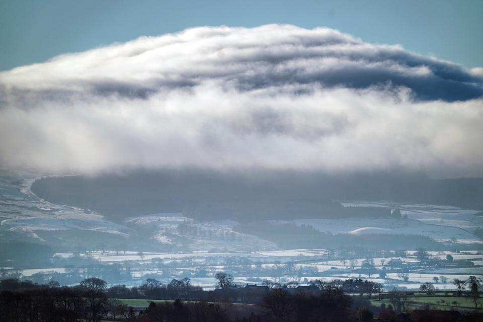 Clouds are seen over the Pennies from Bishop Auckland, County Durham. (PA)