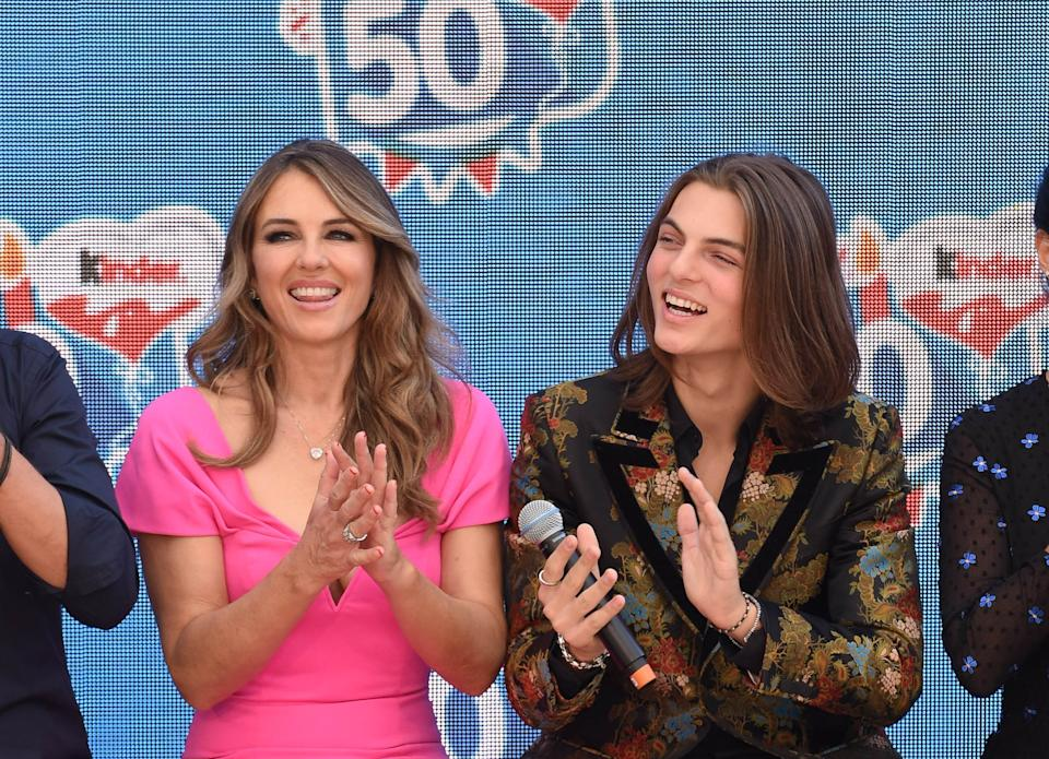 Elizabeth Hurley and son Damian Hurley know all there is to know about Strictly. (Getty Images)