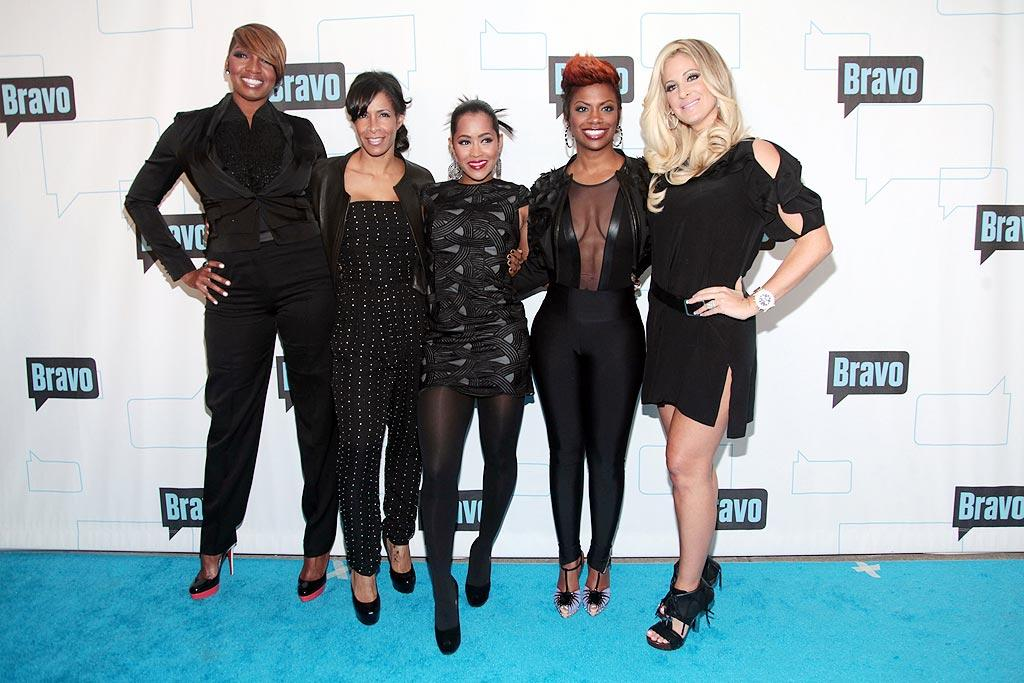 """The Real Housewives of Atlanta"" -- Nene Leakes, Sheree Whitfield, Lisa Wu Hartwell, Kandi Burruss, and Kim Zolciak -- color-coordinated for Bravo's 2010 Upfront Party at Skylight Studio in NYC. What do you think of their attire? Classy or tacky? Astrid Stawiarz/<a href=""http://www.gettyimages.com/"" target=""new"">GettyImages.com</a> - March 10, 2010"