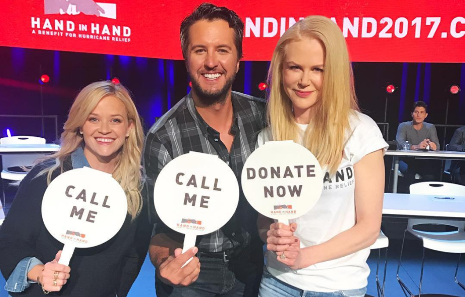 Celebrities came out in their droves to help the 'Hand in Hand' telethon (Instagram)