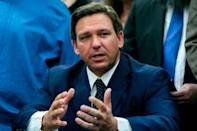Gov. Ron DeSantis, shown in Miami in May, is calling the compact he signed 'larger and more expansive than any other gaming compact in U.S. history.'
