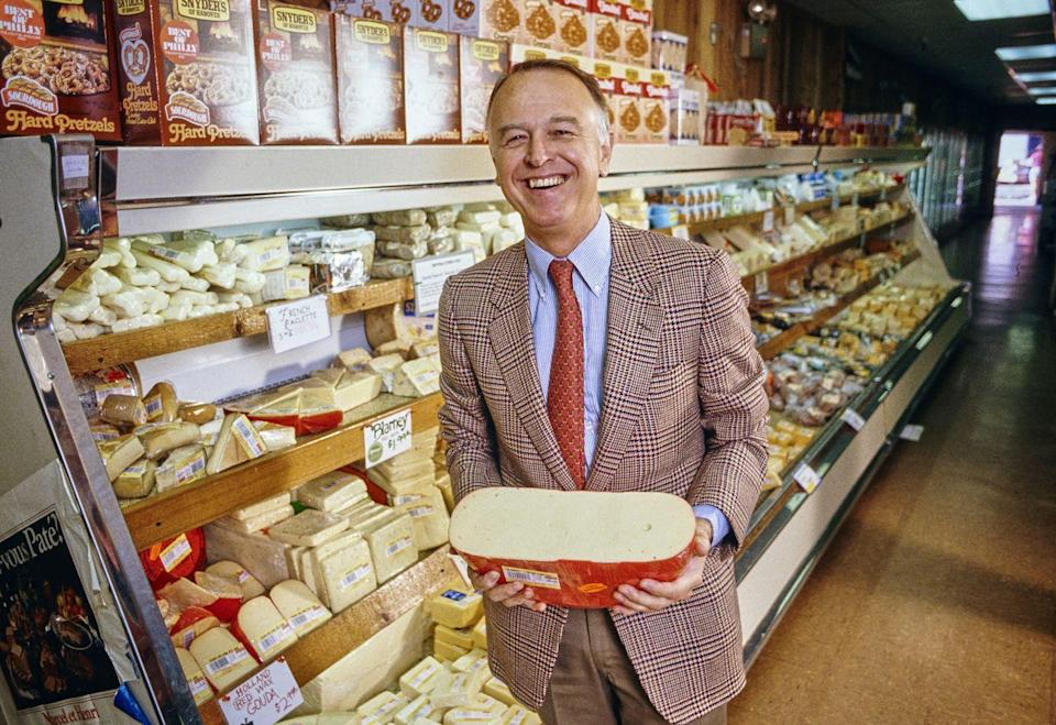 """<p>Joe Coulombe founded the grocery store chain with the sole purpose of delivering high quality and interesting foods at low budget prices. Joe's vision was to create a laid-back atmosphere """"for overeducated and underpaid people, for all the classical musicians, museum curators, journalists,"""" he told <a href=""""https://www.latimes.com/opinion/la-oe-morrison-joe-coulombe-043011-column.html"""" rel=""""nofollow noopener"""" target=""""_blank"""" data-ylk=""""slk:The Los Angeles Times in 2014"""" class=""""link rapid-noclick-resp""""><em>The Los Angeles Times</em> in 2014</a>. The founder <a href=""""https://www.delish.com/food-news/a31166820/trader-joes-founder-joseph-coulombe-dies/"""" rel=""""nofollow noopener"""" target=""""_blank"""" data-ylk=""""slk:passed away"""" class=""""link rapid-noclick-resp"""">passed away</a> in 2020 at the age of 89. </p>"""