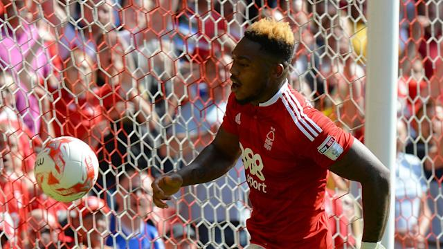 Britt Assombalonga has joined Middlesbrough from Nottingham Forest to become the club's record signing as they eye a Premier League return.