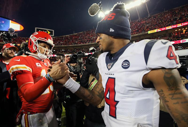 Patrick Mahomes' mega-deal is good news for Deshaun Watson. (Photo by Jamie Squire/Getty Images)