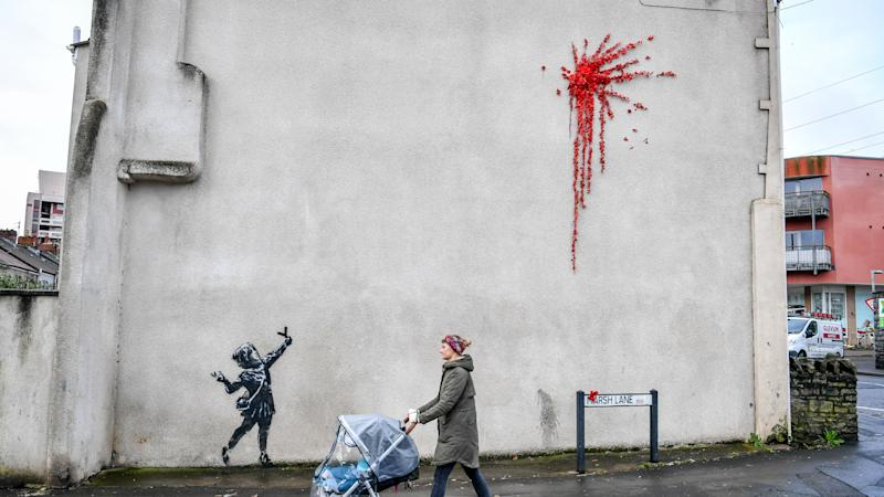 Potential Banksy artwork appears in Bristol in time for Valentine's Day