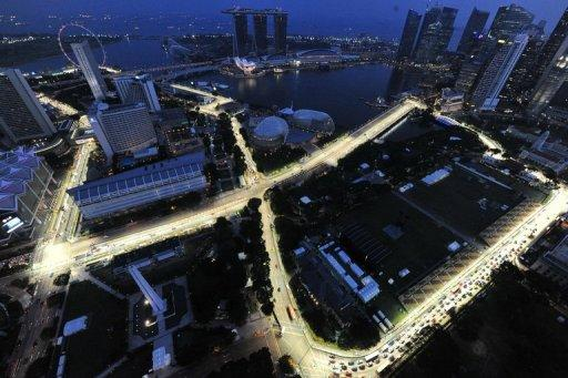 This overview, taken from the Swissotel, shows the circuit, lighted ahad of a Formula One Singapore Grand Prix night race in Singapore, in September 2011. Formula One has been given the go-ahead for a $2.5 billion share sale in Singapore, a source close to the deal told AFP on Tuesday, but analysts said conditions may not be ideal after Facebook's recent disappointment