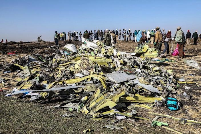 An Ethiopian Airlines Boeing 737 MAX 8 went down minutes into a flight to Nairobi, killing all 157 people on board (AFP Photo/Michael TEWELDE)