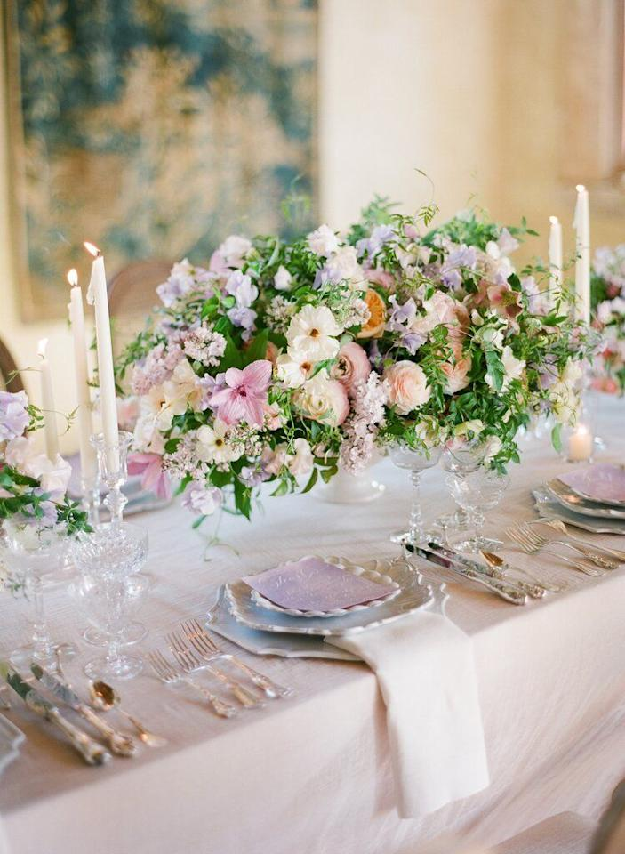 <p>All things blush have become far too common in the world of weddings. There, we said it. </p><p>Skip styling your bridal party, decor, and more in basic blush, and reinvent the standard shade with shades of lilac, sky, pistachio, buttercup, and more. Add organic elements, greenery, and florals of the same tones for a palette that suits both the fashion-girl, the romantic, and the globe-trotting bohemienne.</p>
