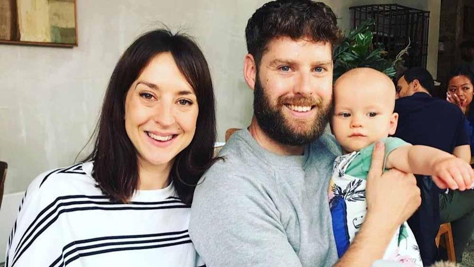 After Edward was given just a three per cent chance of going into remission, his sister Kate, pictured here with Edward and her son, Eric, started a GoFundMe (Collect/PA Real Life).