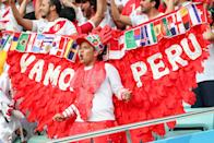 <p>Supporters of Team Peru cheer during a 2018 FIFA World Cup Group C football match between Australia and Peru at Fisht Stadium. Sergei Savostyanov/TASS (Photo by Sergei Savostyanov\TASS via Getty Images) </p>