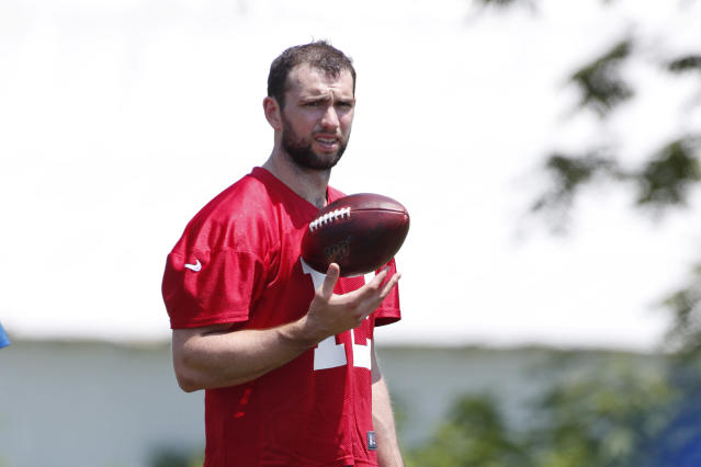 "Colts fans can be forgiven if they don't share the the team's reported ""optimism"" about Andrew Luck's health. (Reuters)"
