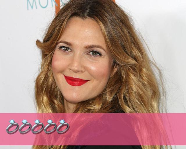 "<p><strong>Engagements:</strong> 5<br><strong>Marriages:</strong> 3<br><strong>Current status:</strong> Reportedly dating <a href=""http://people.com/celebrity/drew-barrymore-dating-david-hutchinson/"" rel=""nofollow noopener"" target=""_blank"" data-ylk=""slk:David Hutchinson"" class=""link rapid-noclick-resp"">David Hutchinson</a>.<br>(Photo: Getty Images) </p>"