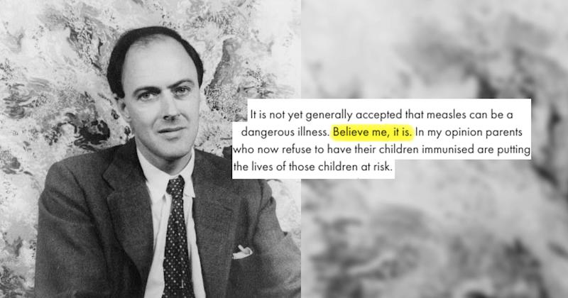 The Worlds Most Notorious Anti Vaxxer >> Roald Dahl S Open Letter To Anti Vaxxers Is More Relevant Than Ever