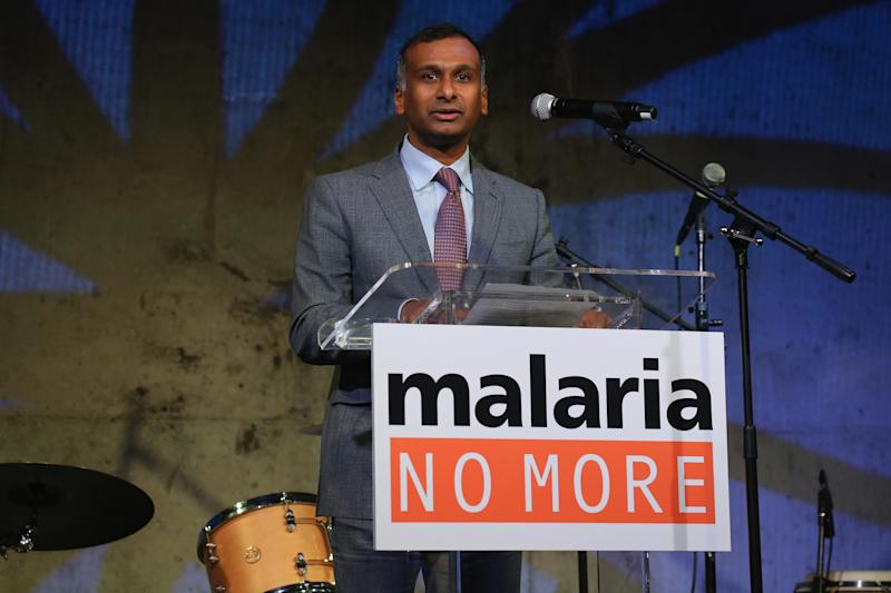 NEW YORK, NY - NOVEMBER 13: Namal Nawana, CEO of Alere speaks onstage at the Malaria No More 2014 International Honors Gala Benefit on November 13, 2014 in New York City. (Photo by Neilson Barnard/Getty Images for Malaria No More)