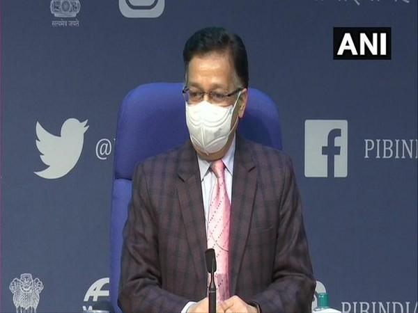 Union Health Secretary Rajesh Bhushan speaking at a press briefing on Tuesday. (Photo/ANI)