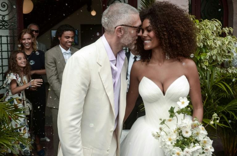 French actor Vincent Cassel and model Tina Kunakey tied the knot in front of around 100 guests in Bidart, a small village in southwestern France