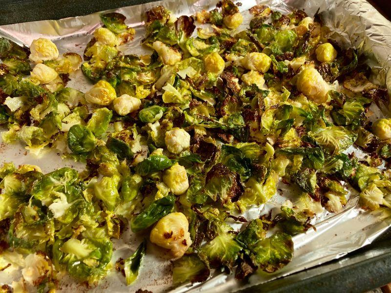 the crispiest Brussels sprouts ever