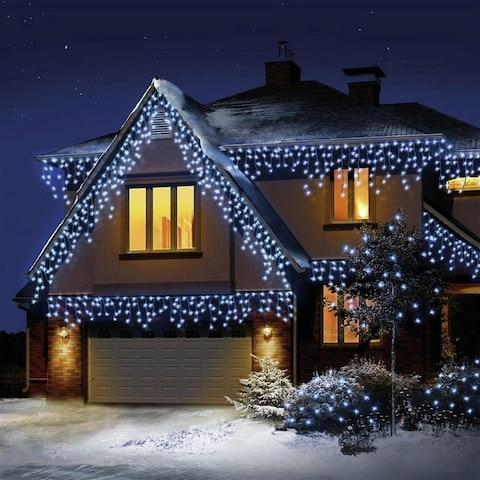 LED Snowing Icicle Christmas Lights - Credit: Argos