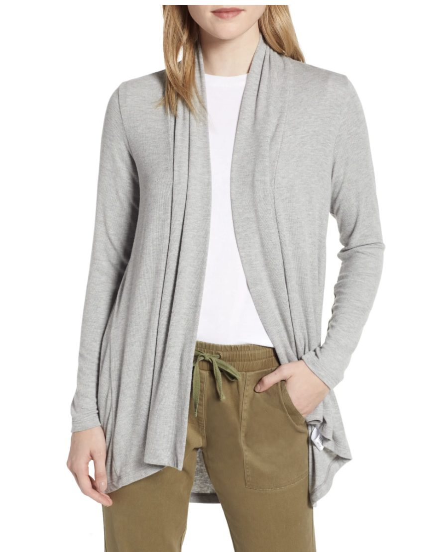 Bobeau High/Low Jersey Cardigan Nordstrom, from $22 (originally $58)