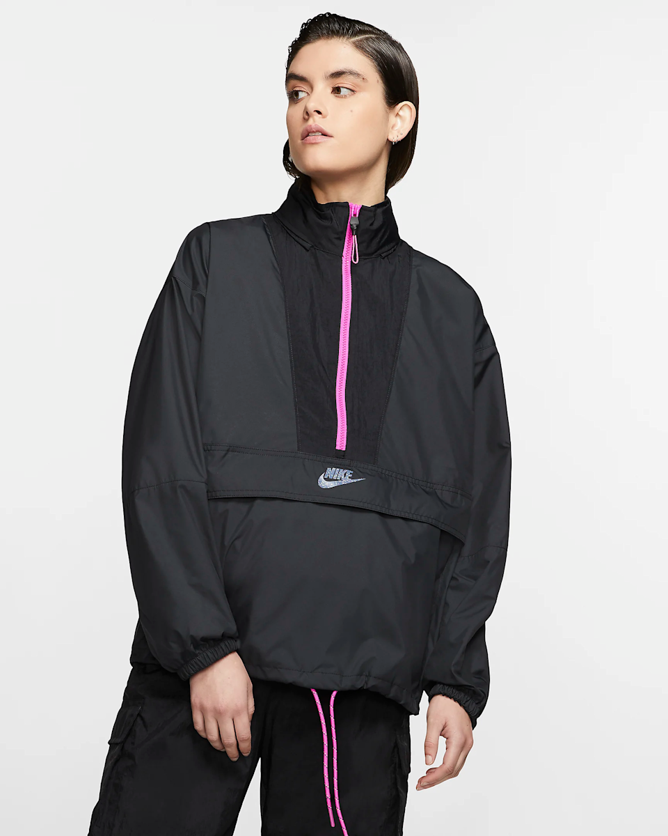 "<br><br><strong>Nike</strong> Icon Clash Pullover Jacket, $, available at <a href=""https://go.skimresources.com/?id=30283X879131&url=https%3A%2F%2Fwww.nike.com%2Ft%2Fsportswear-icon-clash-womens-jacket-F5Qp72%2FCJ2289-010"" rel=""nofollow noopener"" target=""_blank"" data-ylk=""slk:Nike"" class=""link rapid-noclick-resp"">Nike</a>"