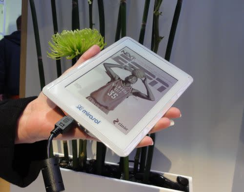 CES: Mirasol color e-reader display ready for its close-up