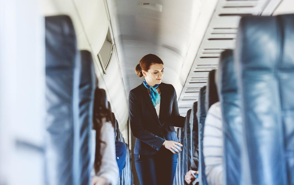 Members of the cabin crew perform are also likely to perform a second head count before take off [Photo: Getty]