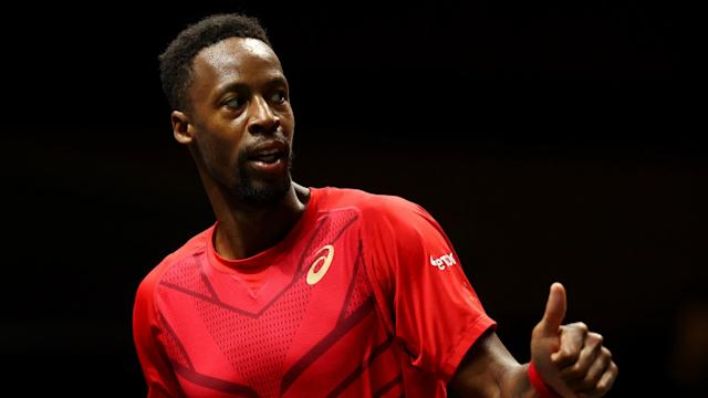 Dan Evans was unable to stop Gael Monfils in his tracks at the Rotterdam Open.