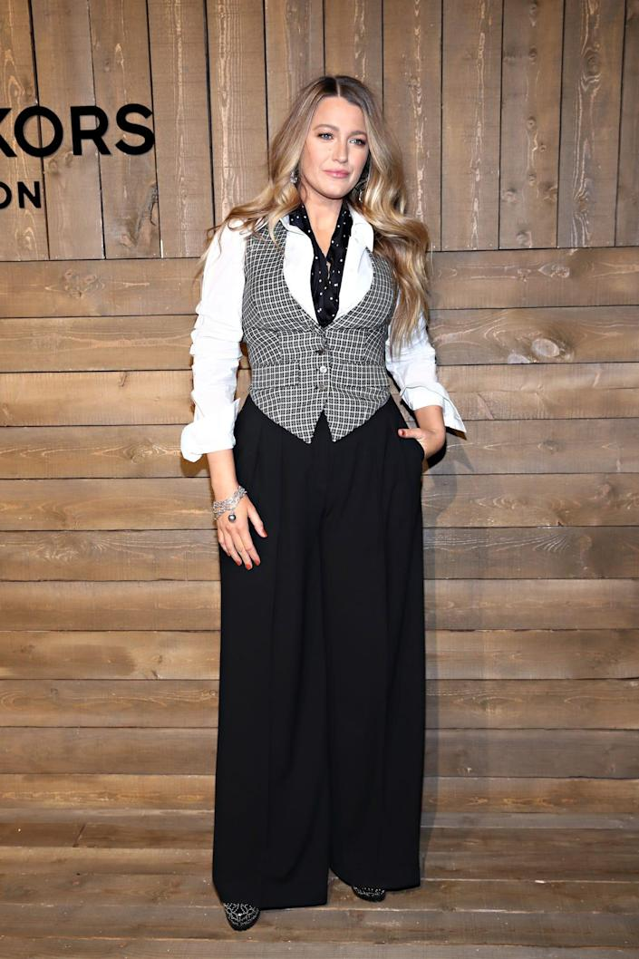 Blake Lively at a Michael Kors event in 2020.