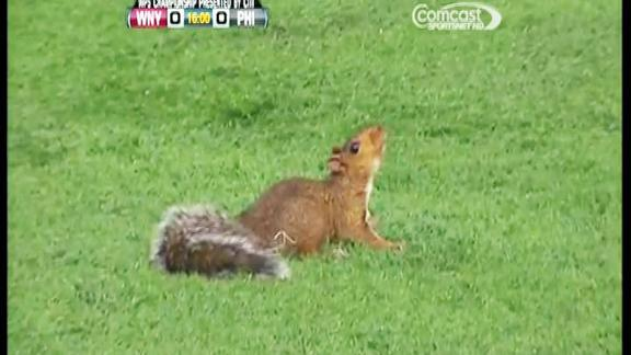 Squirrel invades women's professional soccer championship game, Ray Lewis makes an attempt at play-by-play announcing, and Justin Upton can't believe it when a  bold fan snags a fly ball from him