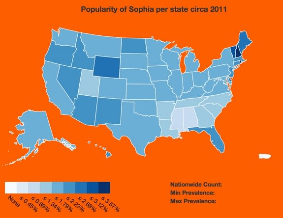New Map Shows How Baby Names Spread