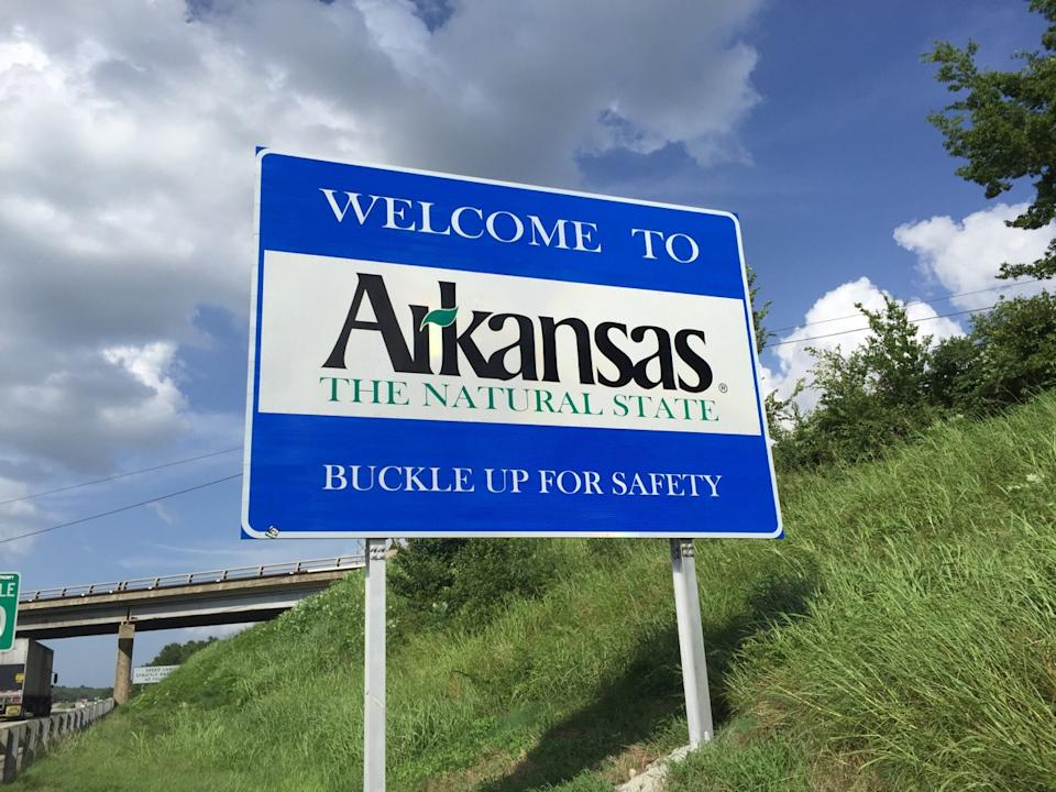 arkansas, state welcome sign