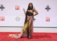 Taraji P. Henson arrives at the BET Awards on Sunday, June 27, 2021, at the Microsoft Theater in Los Angeles. (Photo by Jordan Strauss/Invision/AP)