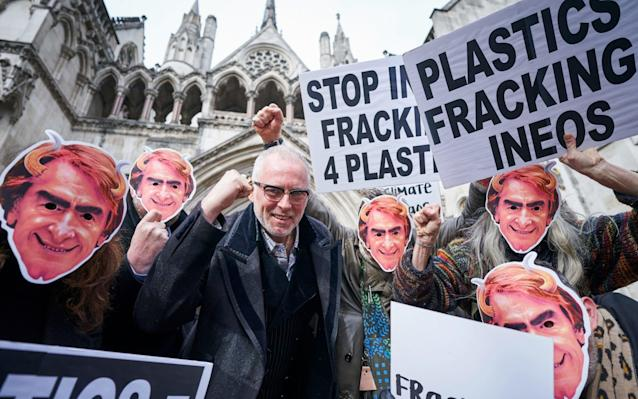 Ineos have faced protests from anti-fracking campaigners in the past - Getty Images Europe