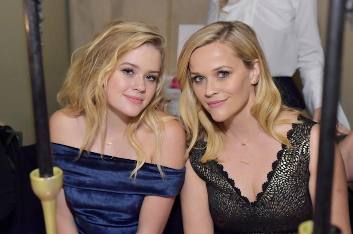 WEST HOLLYWOOD, CA - DECEMBER 04: Reese Witherspoon (R) and Ava Phillippe attend Molly R. Stern X Sarah Chloe Jewelry Collaboration Launch Dinner on December 4, 2017 in West Hollywood, California. (Photo by Stefanie Keenan/Getty Images for Sarah Chloe Jewelry)