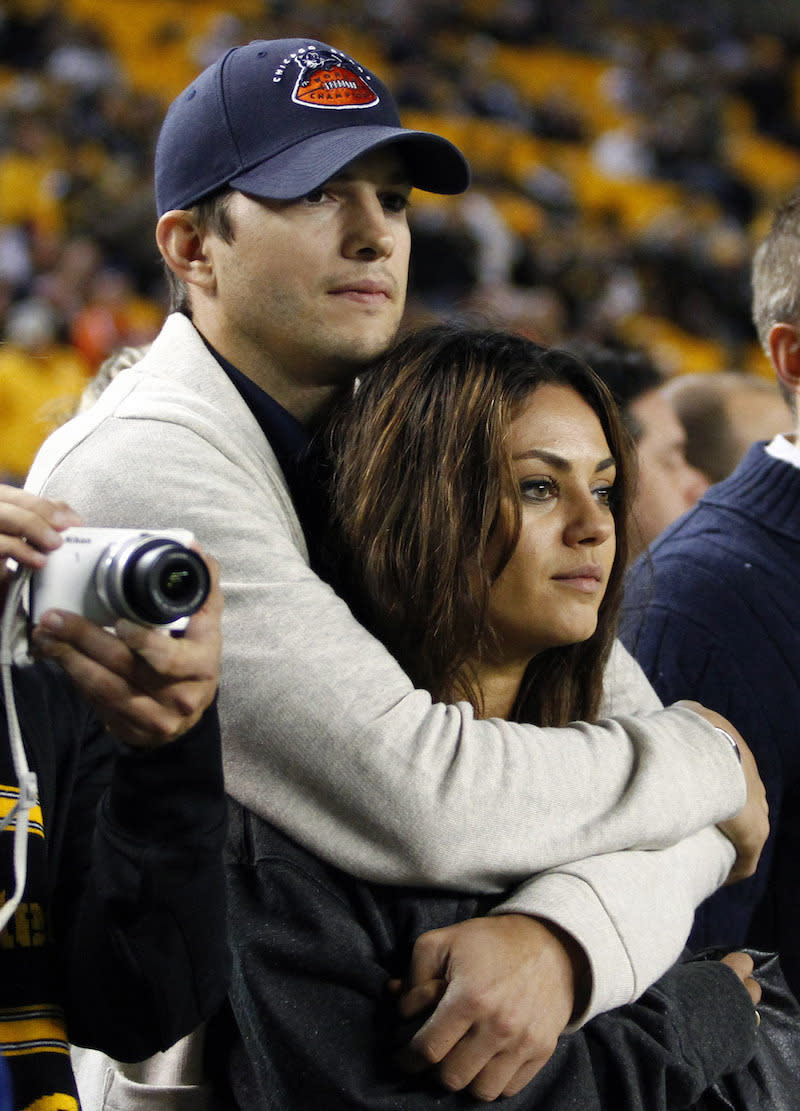 "<p>Years after they starred as boyfriend and girlfriend on the popular TV series, ""That '70s Show,"" Ashton and Mila reunited in 2012, welcoming their daughter Wyatt in 2014 and tying the knot in the summer of 2015. <i>(Justin K. Aller/Getty Images)</i></p>"