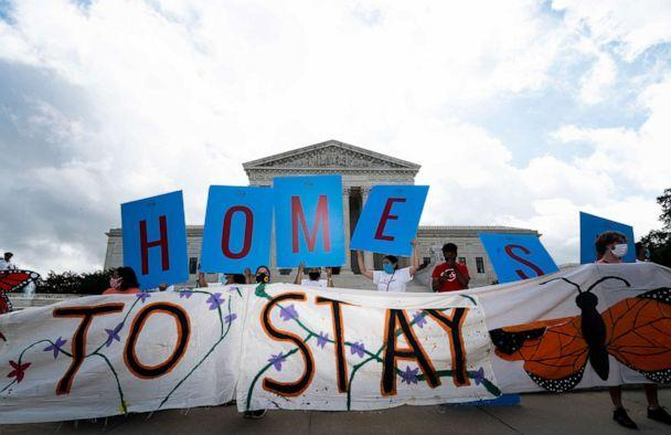 PHOTO: Dreamers and DACA supporters rally outside of the U.S. Supreme Court in Washington, June 18, 2020. (CQ-Roll Call, Inc via Getty Images, FILE)