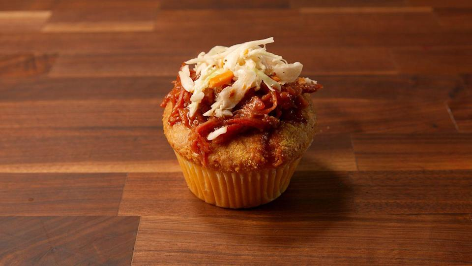 """<p>Combine your two favorite Southern favorites into one awesome bite.</p><p>Get the recipe from <a href=""""https://www.delish.com/cooking/recipe-ideas/recipes/a51381/pulled-pork-cornbread-cups-recipe/"""" rel=""""nofollow noopener"""" target=""""_blank"""" data-ylk=""""slk:Delish"""" class=""""link rapid-noclick-resp"""">Delish</a>.</p>"""