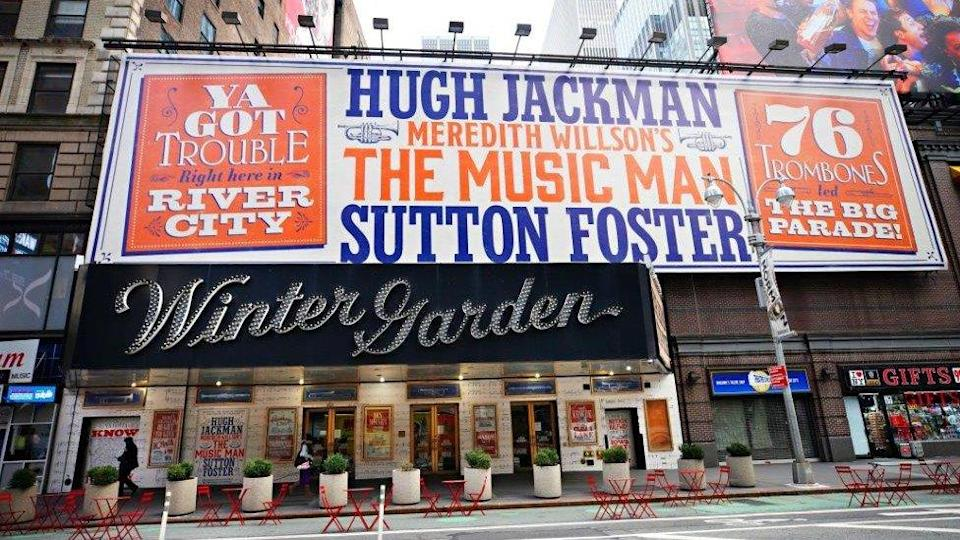 Billboard for The Music Man at New York's Winter Garden theatre