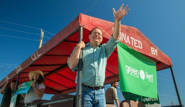 Green Party of Ontario Leader Mike Schreiner, shown in September 2019, won the party's first-ever seat in the province in 2018, in his riding of Guelph.
