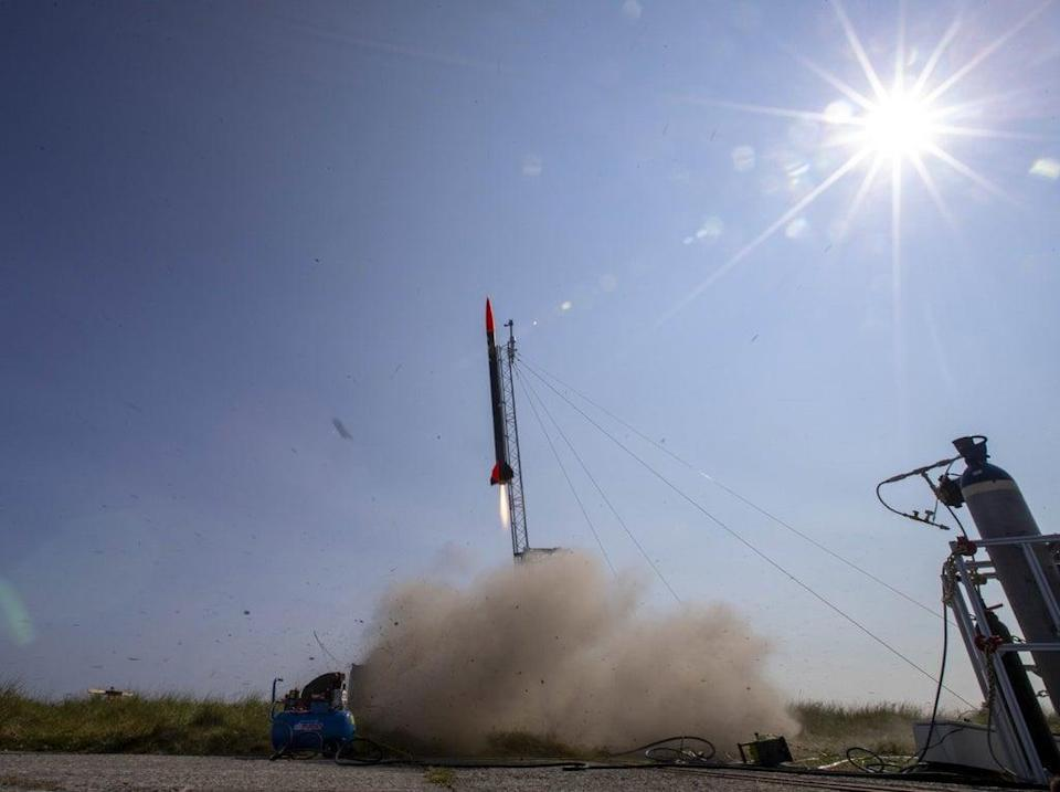 The rocket uses High-Density Polyethylene (HDPE) for fuel (Jeff Holmes/PA)