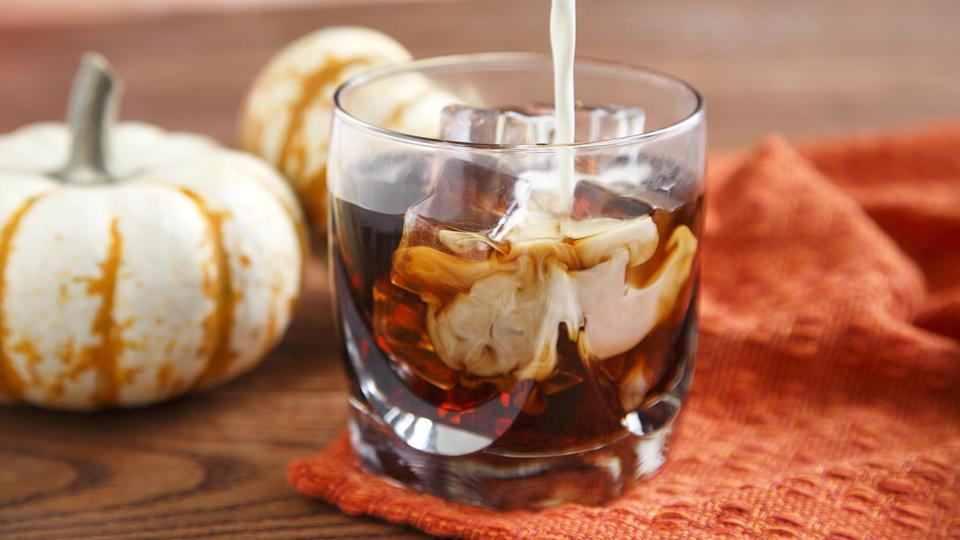 "<p>This pumpkin spice white Russian will make you want to skip your <a href=""https://www.thedailymeal.com/best-recipes/best-coffee-recipes?referrer=yahoo&category=beauty_food&include_utm=1&utm_medium=referral&utm_source=yahoo&utm_campaign=feed"" rel=""nofollow noopener"" target=""_blank"" data-ylk=""slk:morning coffee"" class=""link rapid-noclick-resp"">morning coffee</a>. This recipe uses coffee liqueur, a shot of vodka and heavy cream with pumpkin pie spice extract for a great fall pick-me-up beverage.</p> <p><a href=""https://www.thedailymeal.com/recipe/pumpkin-pie-spice-white-russian?referrer=yahoo&category=beauty_food&include_utm=1&utm_medium=referral&utm_source=yahoo&utm_campaign=feed"" rel=""nofollow noopener"" target=""_blank"" data-ylk=""slk:For the Pumpkin Pie Spice White Russian recipe, click here."" class=""link rapid-noclick-resp"">For the Pumpkin Pie Spice White Russian recipe, click here.</a></p>"