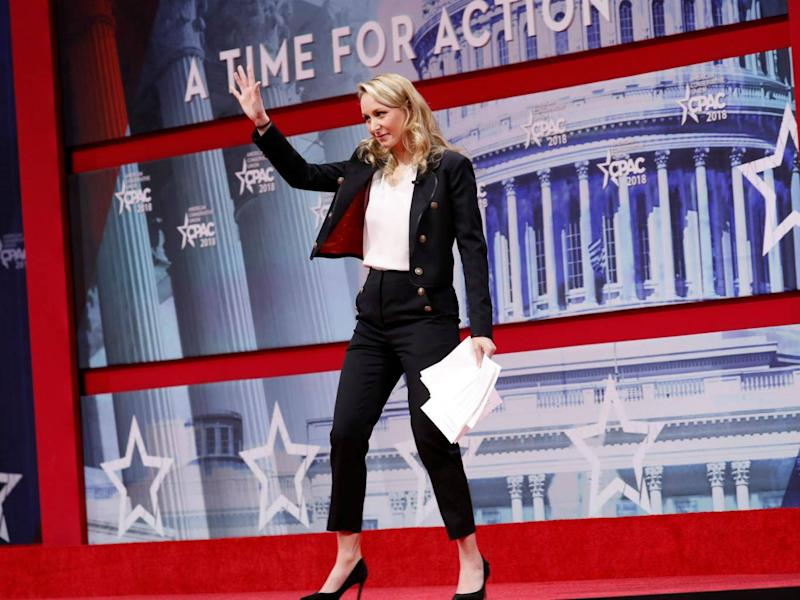Marion Marechal-Le Pen, niece of right-wing populist French politician Marine Le Pen before her address at CPAC (Kevin Lamarque/Reuters)