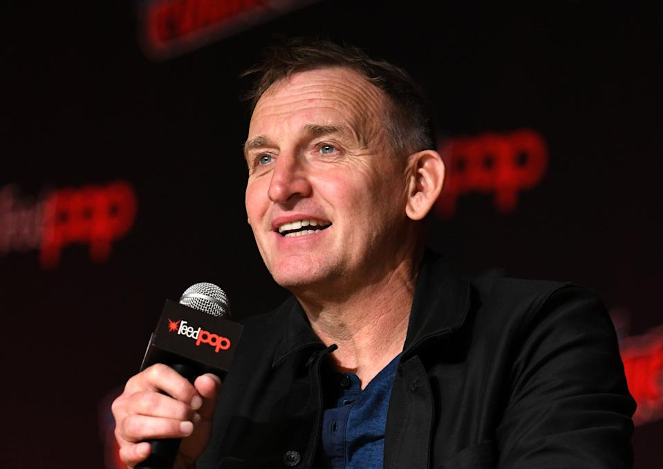 Christopher Eccleston thinks Doctor Who needs more female writers and actors. (Photo by Bryan Bedder/Getty Images for ReedPOP)