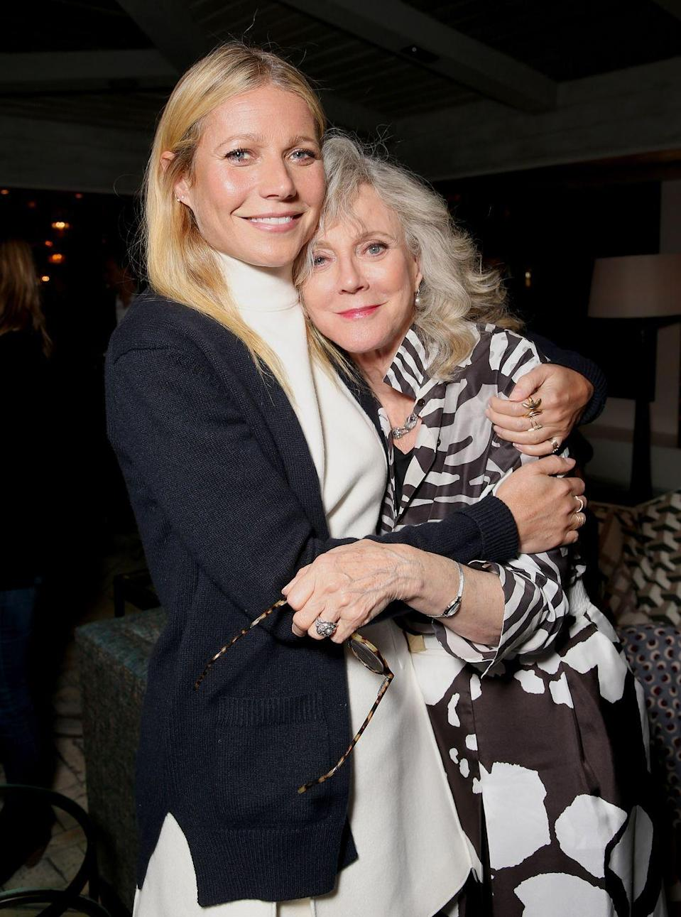 "<p>""<a href=""https://www.eonline.com/news/655199/mother-s-day-2015-gwyneth-paltrow-reveals-what-mom-blythe-danner-taught-her-watch-the-touching-video"" rel=""nofollow noopener"" target=""_blank"" data-ylk=""slk:She's taught"" class=""link rapid-noclick-resp"">She's taught</a> me a lot about being a woman who isn't afraid to be creative and expressive and to channel that energy and power, which she does in such elegant and graceful ways.""</p>"