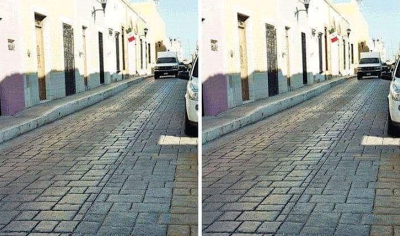 These two pictures are exactly the same. Photo: Imgur